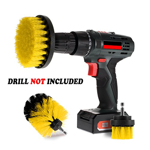 Corded Brush - Scrub Brush Drill Attachment Kits - Brush Heads for Cordless/Corded Power Drills Impact Drivers – All Purpose Shower Tile Bathroom Bathtub Sink Hardwater Stains Scum Grout Cleaning Set