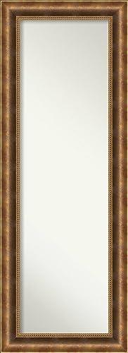 Amanti Art Full Length Mirror Manhattan Bronze Mirror Full Length Solid Wood Full Body Mirror On The Door Mirror 19.38 x 53.38 in.