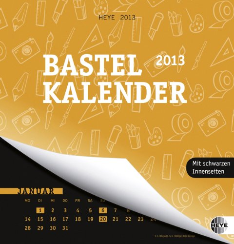 Bastelkalender 2013 orange