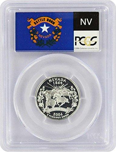 2006 Nevada State S Silver Proof Quarter PR-69 PCGS