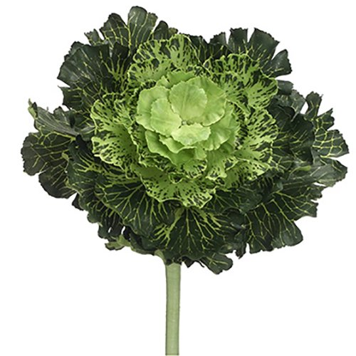 11'' Artificial Large Japanese Cabbage Spray Pick -Green (pack of 6)