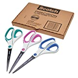 Scotch Precision Ultra Edge Titanium Scissors, 8 Inch, 3-Pack (1458-3AMZ)