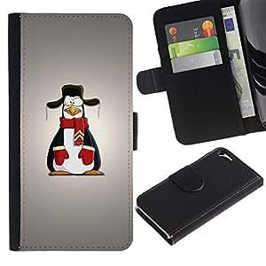UNIQCASE - Apple Iphone 5 / 5S - Funny Penguin - Cuero PU Delgado caso cubierta Shell Armor Funda Case Cover