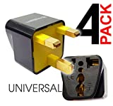 us british adapter - KRIËGER Grounded Universal UK Hong Kong (type G) British Plug Adapter Adaptor - 4 Pack