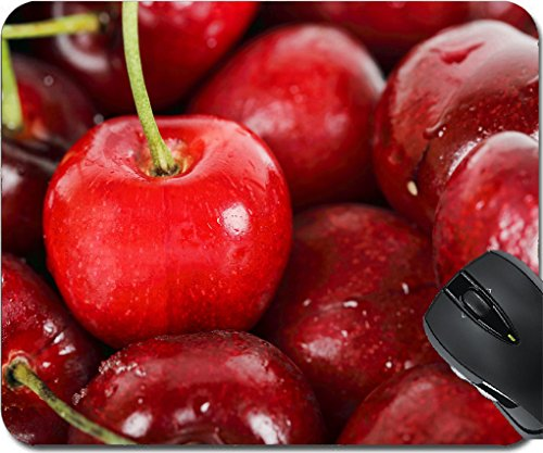 MSD Mousepad Mouse Pads/Mat design 20232596 macro of beautiful fresh cherries