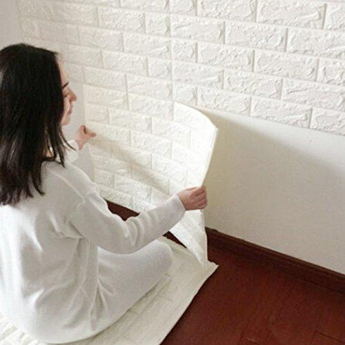BIGBANBAN Wall Stickers, Creative 3D DIY Imitation PE Foam Self Adhesive  Brick Pattern Wallpaper, Soft Pack TV Sofa Background Living Room Bedroom  Study ...