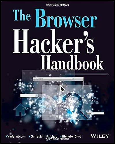 The Browser Hackers Handbook Wade Alcorn Christian Frichot Michele Orru 9781118662090 Amazon Books