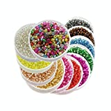 Approx 7200pcs 2mm Glass Seed Bugle Tube Beads Loose Bead Jewelry Findings (12colors/pack 600pcs/color) (Mixed colors 1)