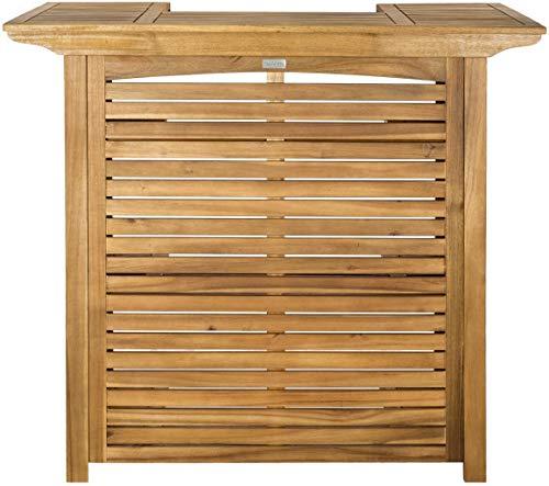Safavieh Outdoor Collection Monterey Teak Bar Table - Teak Brown (Wood Bar Outdoor)