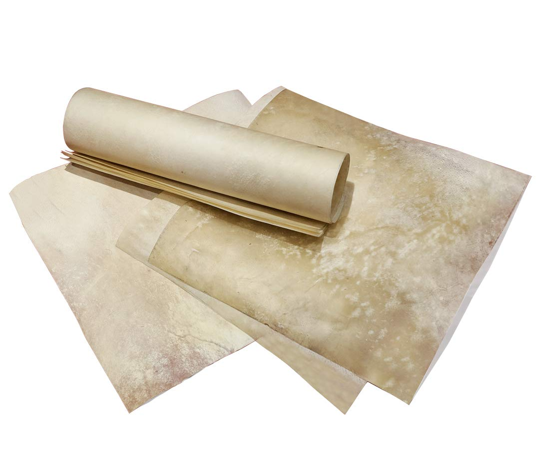Ectoria Natural Skin Parchment Paper, Vellum Sheep/Goat Skin (Paper Size - 6 X 8 Inches), 10 Sheets