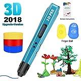 3D Printing Pen for Kids,Uvital 3D Drawing Doodle Printer Pen 【2018 Upgrade Version】Non-Clogging Bonus PLA Filaments Stencil eBook Best Gift for Children Adults Arts Crafts DIY Doodling(Blue)