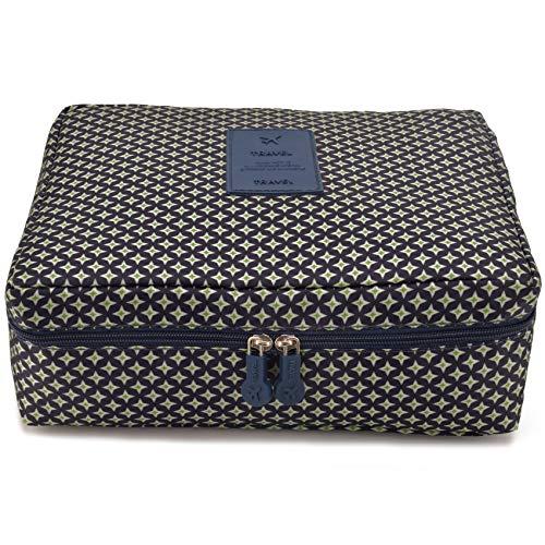 Jiaruo multi-function travel cosmetic bag waterproof Makeup bags (star deep blue)