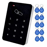 LIBO 125KHz RFID Keypad Access Control System Digital Keyboard, Single Door Use, Support 1000 Users, Including 10pcs TK4100 EM ID Keyfobs