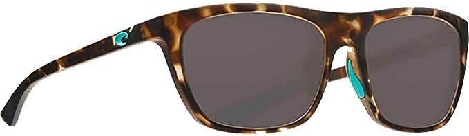 3040faef2dca1 Costa Del Mar - Cheeca - Matte Shadow Tortoise Frame-Grey 580 Poly  Polarized Lenses