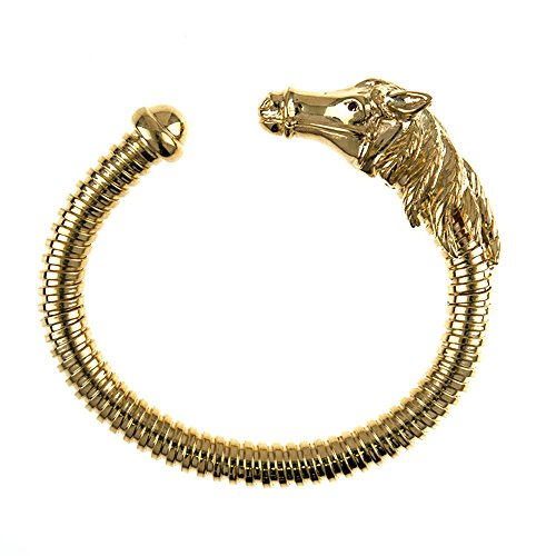 18KT Yellow Gold Horse Ribbed