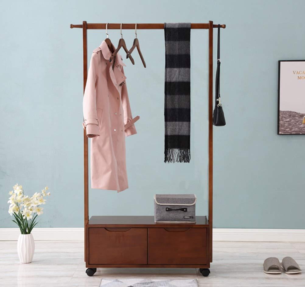 Amazon.com: WYQSZ Solid Wood Coat Rack Coat Rack Floor ...
