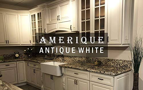 (AMERIQUE 691322310597 Luxury Antique White Vanity Cabinet 30