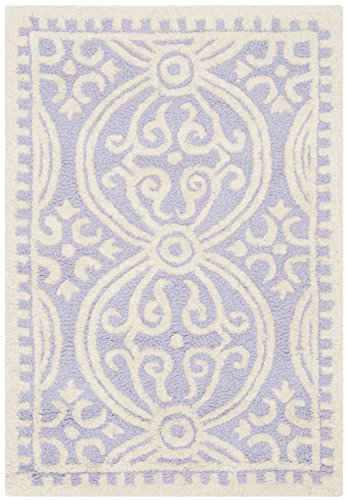 Safavieh Cambridge Collection CAM123C Handcrafted Moroccan Geometric Lavender and Ivory Premium Wool Area Rug (2' x -