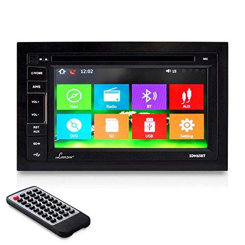 Lanzar SDN65BT 6.5-Inch Video Headunit Receiver Bluetooth