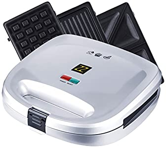 ZZ S6141B-S 3 in 1 Breakfast Sandwich and Waffle Press : Even better for it's money