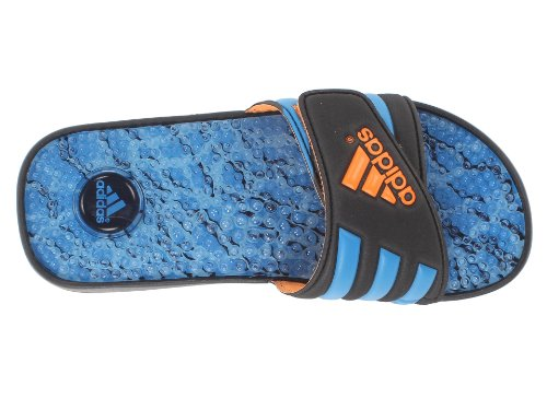 adidas Men's Adissage Fade Graphic Black/Solar Zest/Solar Blue Sandal 8 D - Medium