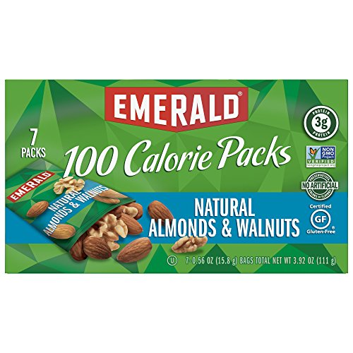 (Emerald Nuts, Natural Walnuts & Almonds 100 Calorie Packs, 7 Count Boxes (Pack of 12))