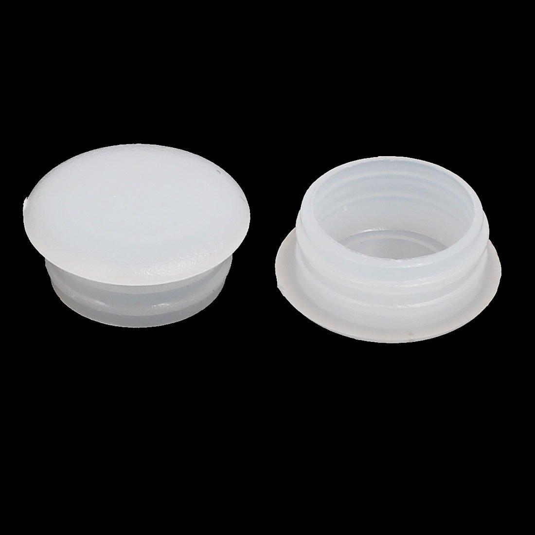 15mm Dia Plastic Thread Design Screw Cap Covers Hole Lids Brown 30pcs