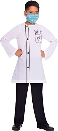Child Dentist Costume Boys Girls Book Week Day Fancy Dress Outfit Kids