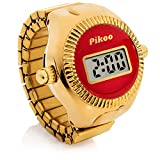 Pikoo: Unisex Digital Ring Watch w/Made in Japan Movement, One Size Fits All - Ruby Red
