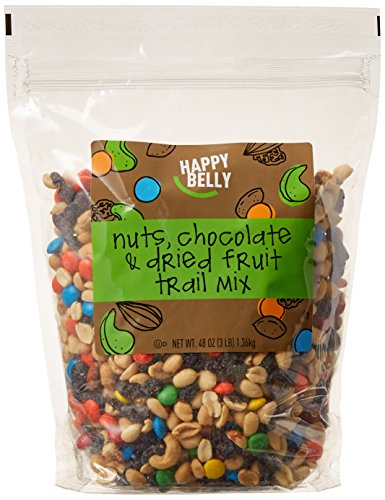 Amazon Brand - Happy Belly Nuts, Chocolate & Dried Fruit Trail Mix, 48 oz -