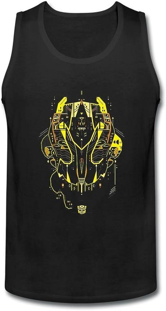 Kittyer Hombres de Bumblebee Transformers diseño algodón Camiseta de Tirantes XXXL