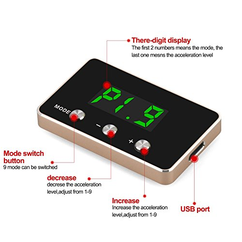 Universal Electronic Throttle Controller 9 MODE Pedal Accelerator Fuel-efficient