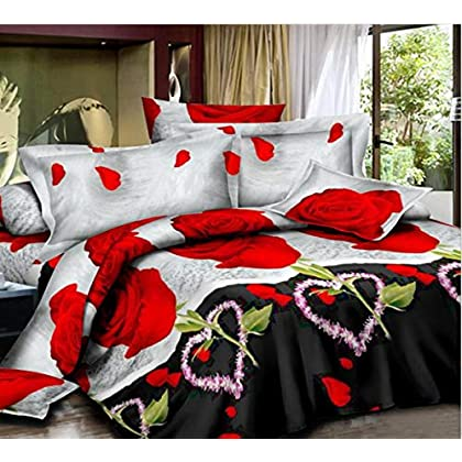 Image of HUROohj 3D,The New Bedding Four Sets,European Style,Bedding Kits( 4 Pcs) for Bed Size Twin/Queen/King,-Queen Home and Kitchen