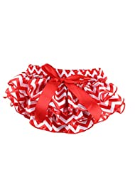 Vogholic Baby Girl Satin Ruffle Bloomers Diaper Cover Wave Bowknot Pants £¨L,Wave£©