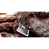 Tache Home Fashion DaDa Super Soft 63 X 87 Luxury Brown Loose Layer Faux Fur Throw Blanket