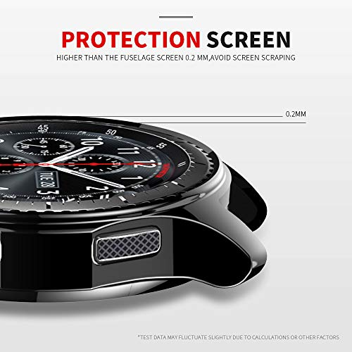 e54be4396742 JZK Samsung Gear S3 Galaxy Watch 46mm Screen Protector - Import It All