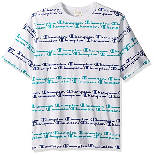 e0265cca Amazon.com: Champion LIFE Heritage Tee-All Over Script: Clothing