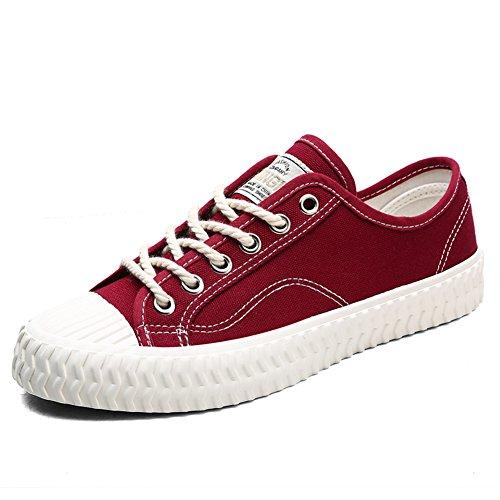 Baskets En Toile Hommes Toptak Chaussures Espadrille De Dentelle Classique Rouge