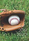 A4 Planner - 2019-2020 Planner Calendar - Baseball Game 15 Months Daily Weekly Monthly Diary With Dot Grid Notebook & Habits Tracker: Inspirational ... Vision Board Journal From Oct 2019 - Dec 2020