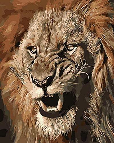 数字でペイントキットPaintworks DIY油絵子供と大人初心者動物絵画(16x20inch、フレームなし)児童学校#00430