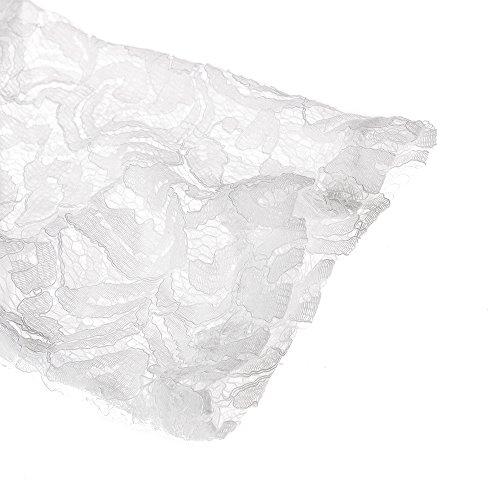 Bewish Bianco Donne Il Formato Indietro Maxi Merletto Floreale Piena Da Sposa Più Delle Abito Partito Del Di Aperto 4qwIxBS7