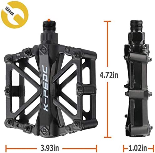 NOVAUS Bike Pedals 9//16 for MTB Mountain Road Bicycle Flat Pedal Universal Lightweight Aluminum Bicycle Platform Pedals for Travel Cycle-Cross Bikes etc