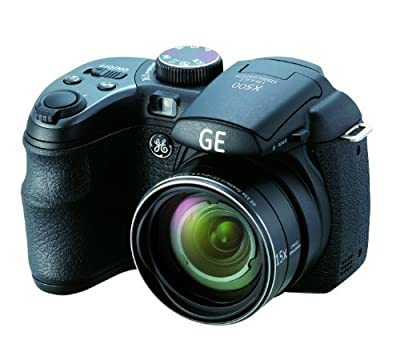 GE 16MP Digital Camera with 15X Optical Zoom and 2.7 Inch LCD with Auto Brightness