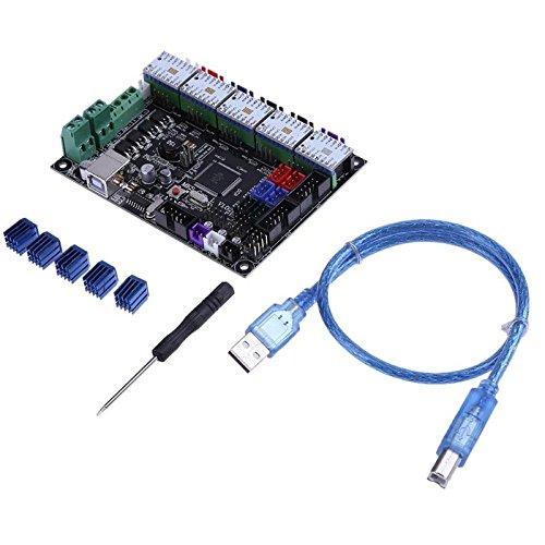 3D Printer & Supplies - 3D Printer Module Board - MKS-GEN L V1.0 Integrated Controller Mainboard + 5pcs TMC2100 V1.3 Stepper Motor Driver Compatible Ramps1.4/Mega2560 R3 for 3D Printer by OCHOOS