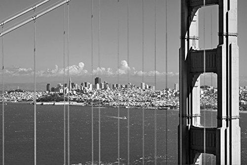 San Francisco Bay, Black and White Photography, Golden Gate Bridge, City Art, Bridge Art, California Art, Skylines, Cityscapes, Art Print