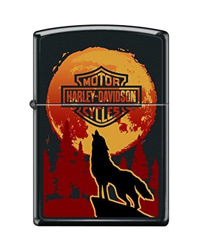 Zippo Harley-Davidson Wolf Black Matte Pocket -