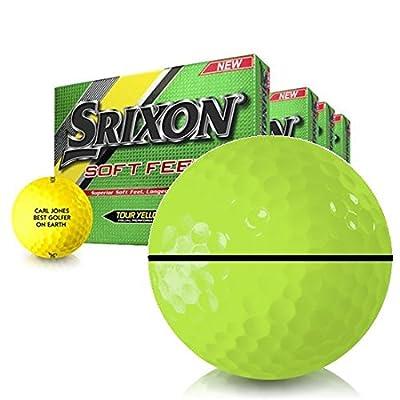 Srixon Soft Feel Yellow AlignXL Personalized Golf Balls - Buy 3 DZ Get 1 Free