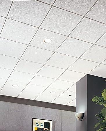 Amazon Com Acoustical Ceiling Tile 24 X24 Thickness 3 4 Pk12 Home Improvement