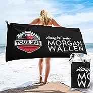 NPFHTBB Morgan Wallen Quick Dry Beach Towel Camping Towel Microfiber Soft Lightweight