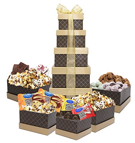 Chocolate Decadence Gourmet Gift Tower by World Wide Gourmet Foods